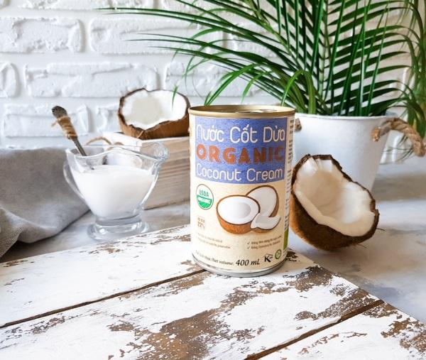 Кокосовые сливки Organic, Банка 400 мл